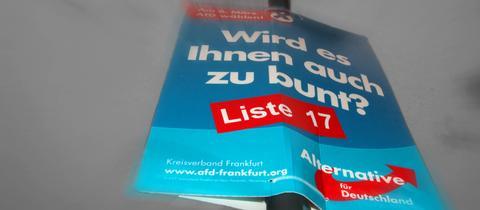 AfD-Wahlplakat in Frankfurt