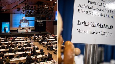 Hier bekommt man noch was für die D-Mark: AfD-Parteitag in Neu-Isenburg
