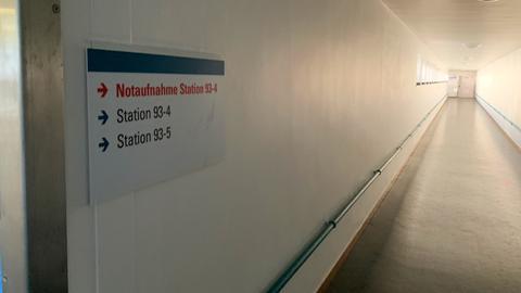 Ein Gang im Uniklinikum Frankfurt