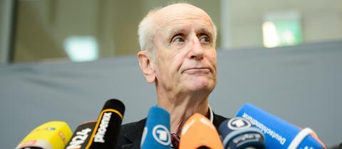 Albrecht Glaser am 27.09.2017 am Rande einer AfD-Fraktionssitzung in Berlin