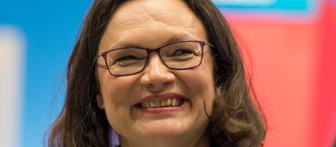 Andrea Nahles neue SPD-Vorsitzende Parteitag Wiesbaden