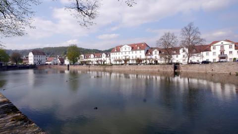 Das historische Hafenbecken in Bad Karlshafen
