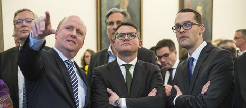 Uwe Becker, Boris Rhein und Jan Schneider