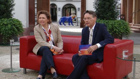 Nicola Beer im Gespräch mit Thomas Kreutzmann