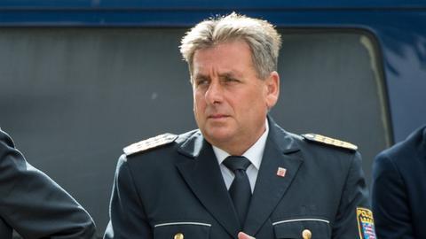 Innenminister Peter Beuth (li.) und Landespolizeipräsident Udo Münch