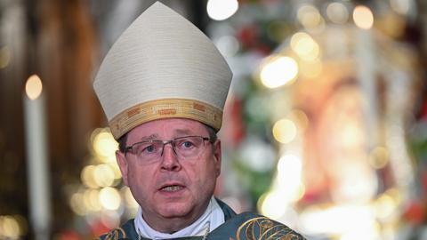 Der Limburger Bischof Bätzing beim Gottesdienst