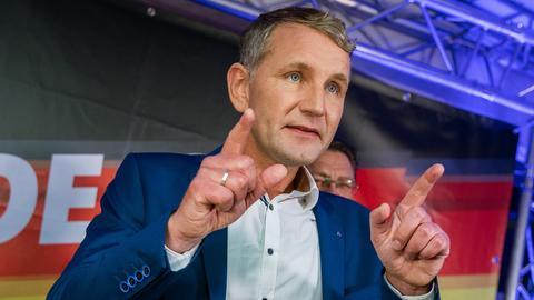 Björn Höcke bei einer AfD-Wahlparty in Thüringen Ende Oktober.
