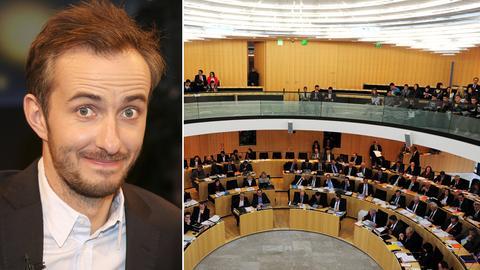 Jan Böhmermann und die leeren Ränge des hessischen Landtags