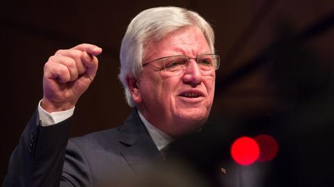 Ministerpräsident Volker Bouffier (CDU) bei einer Rede