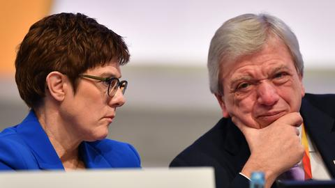 Kramp-Karrenbauer und Bouffier