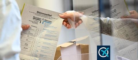 Stimmzettel zur Bundestagswahl 2021