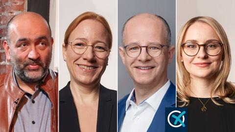 4rer Kombo mit Nouripour, Schmidt, Brand, Pawlik