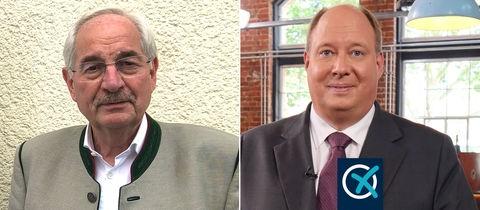 Beide Politikern als Kombo mit Wahllabel