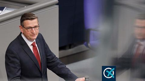 Der Taunussteiner SPD-Bundestagsabgeordnete Martin Rabanus bei einer Rede im Bundestag