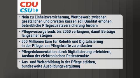Die Inhalte des Wahlprogramms in einer Zusammenfassung.