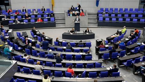 Der Plenarsaal des Deutschen Bundestages.
