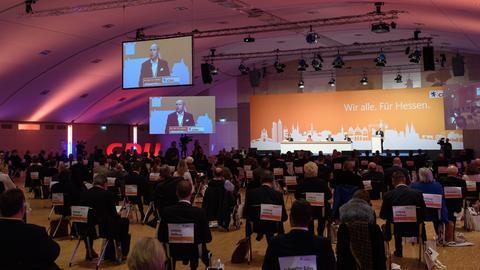 Strenge Abstandsregeln beim CDU-Parteitag in Willingen.