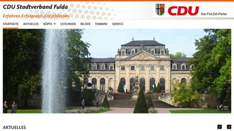 Screenshot der CDU Fulda Website