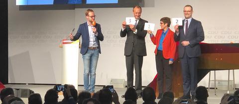 Die drei Kandidaten bei der CDU-Regionalkonferenz in Idar-Oberstein
