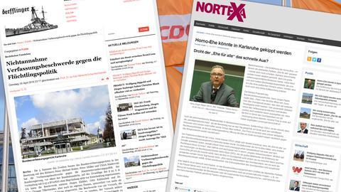 Screenshots der Webseiten derfflinger.de und nortexa.de