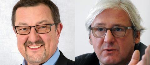Michael Siebel (SPD, l.) und Jochen Partsch (Grüne)
