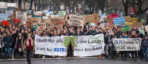 Die Demonstranten in Frankfurt
