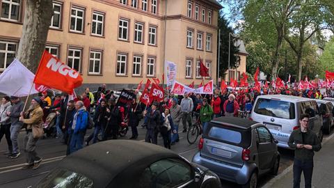 Mai Demo Gewerkschaft Frankfurt