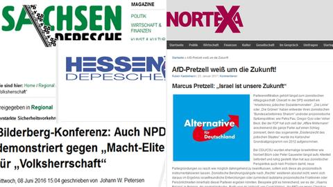 Screenshots Hessen-Depesche und nortexa.de