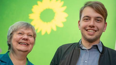 Neue Grünen-Spitze: Sigrid Erfurth und Philip Krämer.