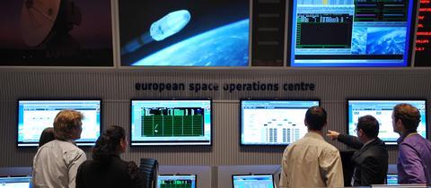 ESA-Kontrollzentrum in Darmstadt