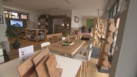 Von der EU gefördert: die Ausstellungshalle von Schreinerei-Meister Heiko Kesting