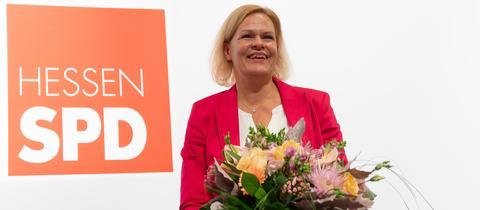 Nancy Faeser ist neue hessische SPD-Vorsitzende.