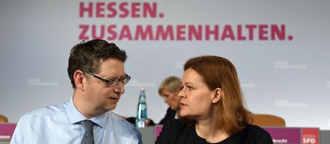 Nancy Faeser und Thorsen Schäfer-Gümbel