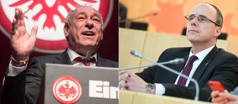 Eintracht-Präsident Peter Fischer / Sport- und Innenminister Peter Beuth (CDU)