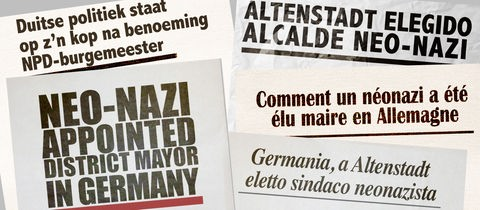 Internationale Schlagzeilen zur die Wahl in Altenstadt-Waldsiedlung