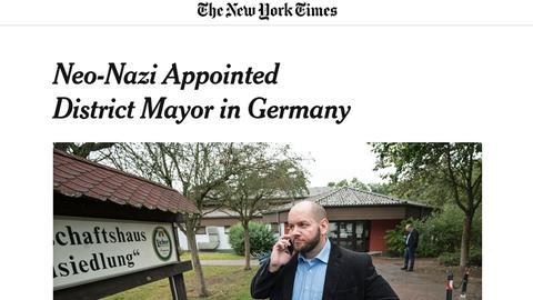 New-York-Times-Artikel über die Wahl in Waldsiedlung