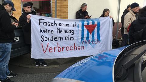 AfD Treffen Aufrechte Obertshausen Gegendemo