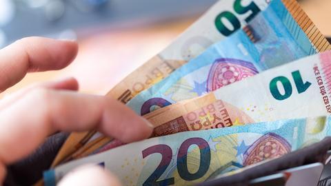 Geld im Portemonnaie