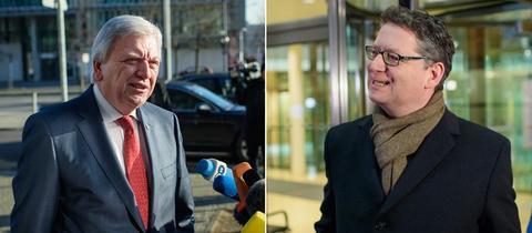 Collage, Volker Bouffier und Thorsten Schäfer-Gümbel