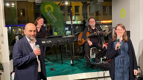 Wahlparty der Frankfurter Grünen