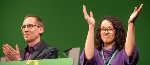 Inzwischen Landesminister: Kai Klose und Angela Dorn geben den Landesvorsitz ab.