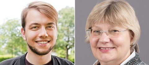 Kandidaten für den Grünen-Landesvorsitz: Philip Krämer und Sigrid Erfurth