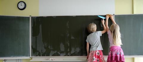 Schüler in einer Grundschule in Kassel