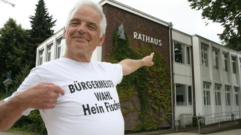 2016 wollte Hein Gottfried Fischer das Rathaus in Halstenbek (Schleswig-Holstein) erobern.
