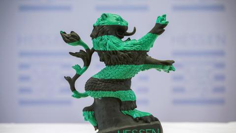 Hessen-Löwe schwarz-grün