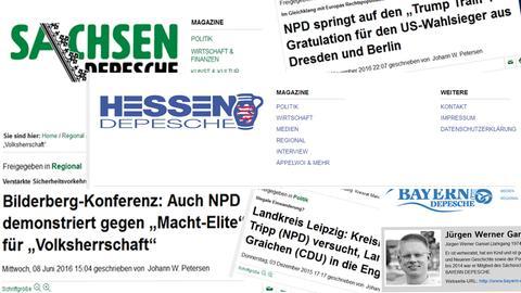 Depeschen-Screenshots