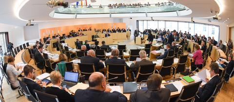 Plenarsitzung im hessischen Landtag