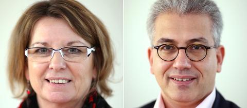 Bildkombo Priska Hinz und Tarek Al-Wazir