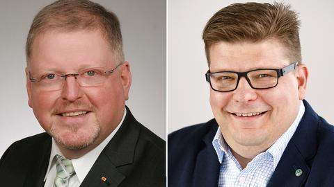 Links Jürgen, rechts Marc Liebermann