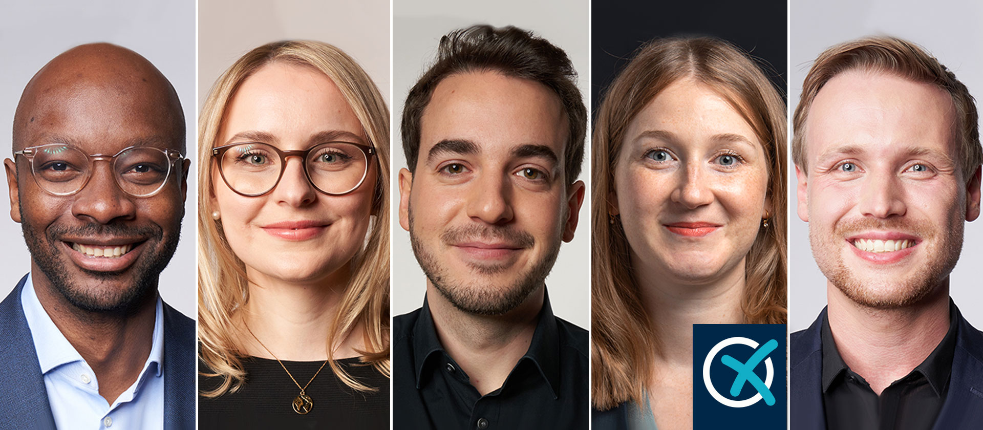 Porträts der fünf neuen Bundestagsabgeordneten der SPD.